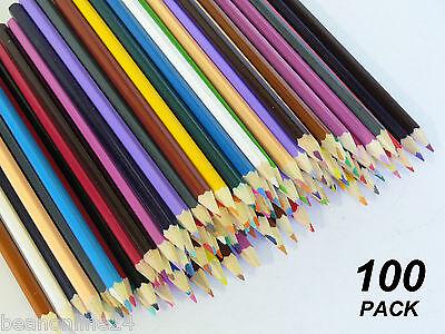 Bulk 100 Pack Coloured Pencils