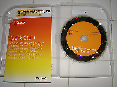 Microsoft MS Office 2010 Home and Student Family Pack For 3PCs x3=NEW SEALED BOX