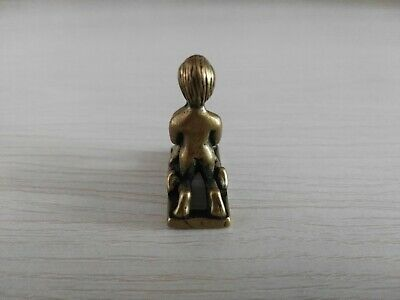 China Old Collection Brass Male And Female Statue Decorated Tabletop 3