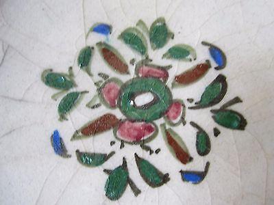 Beautiful Antique Iznik Turkish Ottoman Faience Pottery Hand Painted Bowl 9