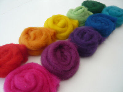 Heidifeathers® ' Rainbow Cloud Mix' - Carded Sliver (100g / 3.50) Felting Wool 6