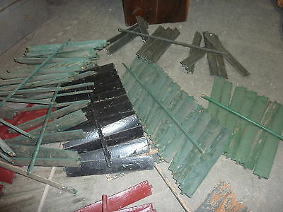SALVAGED wooden SHUTTER slats GREAT for ART projects & painting - w/ATTACHED bar 4
