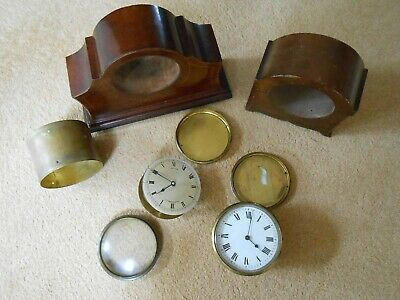 Vintage Mahogany Mantle Clock 8 Day Movement with Platform Escapement & another 12