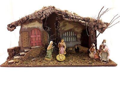 Immagini Capanne Natalizie.Capanna Presepe Grande In Legno Muschio E Corteccia Decorazioni Natalizie Natale