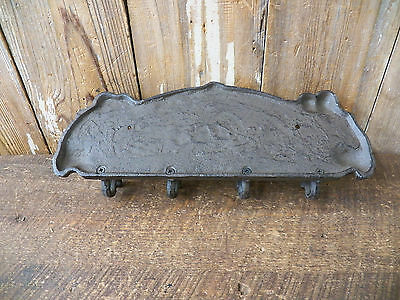"Cast Iron 13"" x 4.5"" SHAVE AND HAIRCUT Coat Hook Rack Key Holder Plaque Hanger 4"