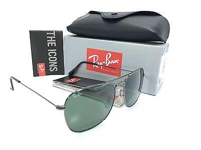 308278451c5 3 of 6 Ray Ban RB3136 004 Caravan Gun Metal Frame Crystal Green 58mm  Sunglasses