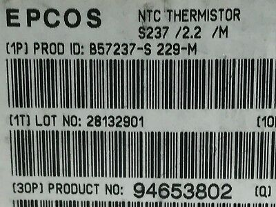 NTC 2.2 IN RUSH CURRENT LIMIT THERMISTOR EPCOS B57237-S229-M 2.2R 7A (x1)  ad1h3 2