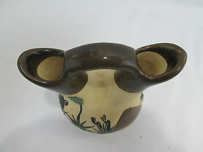 """Southwest Wedding Vase BETTY SELBY Cacutus Miniature Pottery 5"""" Tall Signed 5"""