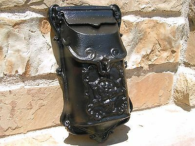 Cast Iron Reproduction mailbox suggestion box Black Victorian style 11