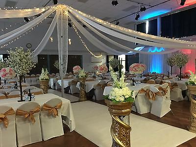 Free Standing Wedding Ceiling Drapes Kit 845 00 Picclick Uk