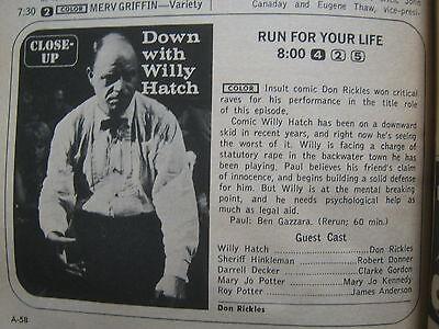 1968 TV Guide (EARTHA KITT/LINDA CRISTAL/MARK SLADE/THE HIGH CHAPARRAL