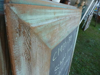 early 20th century schoolhouse SLATE chalkboard salvaged wood FRAME 45.5 x 30.75 4
