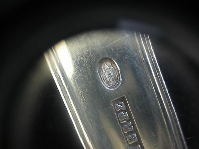 """Antique P. Hertz Denmark Danish Silver Fork-.826 Silver, 6 3/4"""" Long, 60 gram 7"""