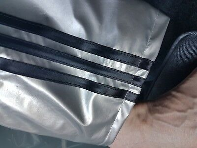 NOW WITH POCKETS Black /& Silver Grey 4XL PVC Track Pants S
