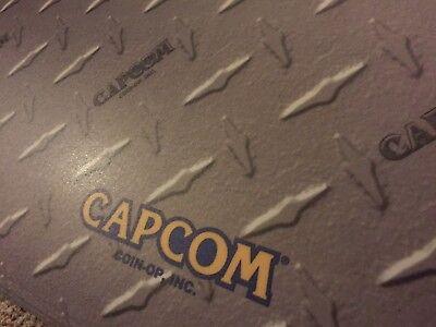 "Laminated Capcom Diamond Plate Arcade Control Panel Overlay 30"" X 16"" (cpo) 2"
