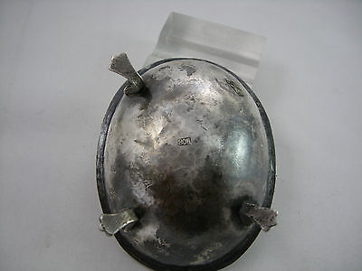 VINTAGE BEAUTIFUL 800 silver oval salt of 18th Century design 5