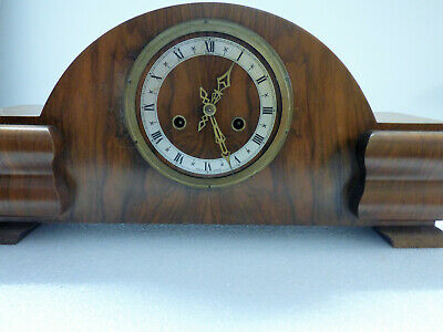 Enfield Mantle Clock Vintage Art Deco In Good Working Condition 3
