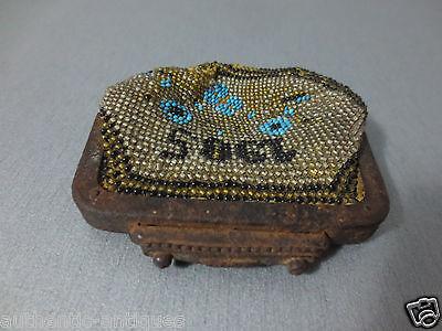 Antique Year 1905 Glass beads Coins PURSE Karakachans-Greece Macedonian RARE 9