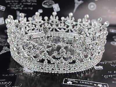 New 4.5cm High Full Crystal Luxury Wedding Bridal Party Pageant Prom Tiara Crown
