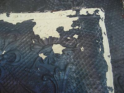 "GORGEOUS antique VICTORIAN tin ceiling pressed FLORAL fleur pattern 24.75"" x 48"" 7"