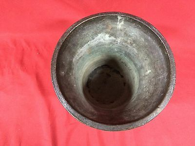 Huge Rare Antique European Bronze Mortar & Pestle Royal Aristrocatic Vase? King 9