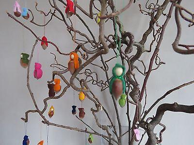 8 X Nuss Wichtel Zwerg Waldorf Jahreszeitentisch Deko  für Kinder versch Farben