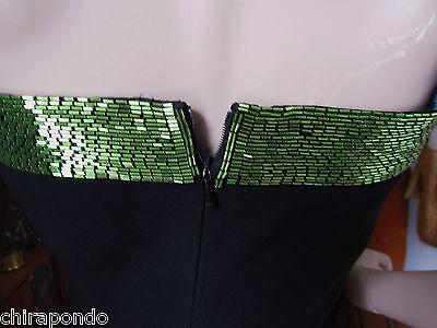 Abendkleid Gr. 36 Gr. 38  schwarz blau grün Pailletten erotisch CLASS Godet 7