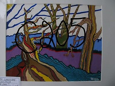 "P1-C413  Print Of Original Acrylic Painting By Ljh     ""Lake In Woods"" 3"