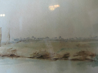 Vintage Antique Early to Mid 20th Cent. Eva West Signed Watercolor of Landscape 8