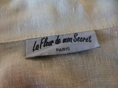XL belle veste blanche en lin  femme ou longue mariniére 5