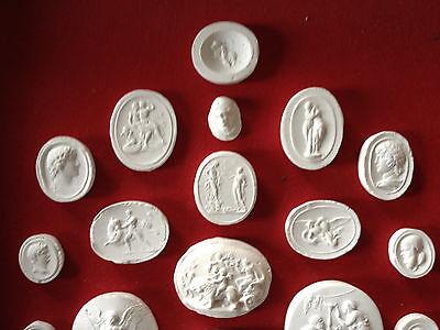 27 Grand Tour Cameos intaglios Gems Medallions plaster cameo seals Classic 3