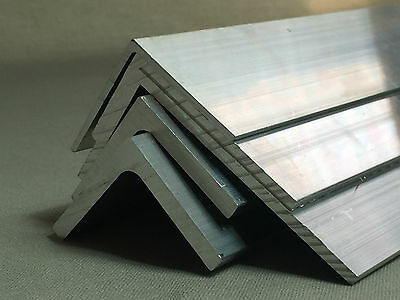 Aluminium Angle L Profile Mill Finish 6060 Grade Various Lengths Thickness 2 3 4 12