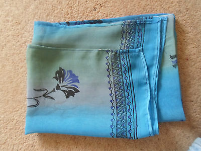 1 NEW Colourful Mixed Fibre Ladies Scarf SHADES OF BLUE ~ Gift Idea #36 3