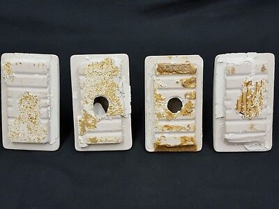 Architectural Salvage 4 Piece White Porcelain Towel Bar Bracket Holder Mount 6