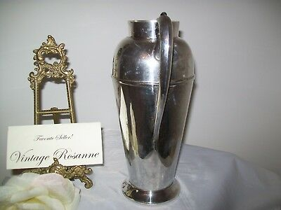 Silver Plated Pitcher Victorian Plate Canada Vintage Coffee Martini Serve Vase 7