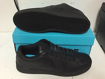 CONVERSE STAR COURT OX Black Leather MENS 159803C NEW