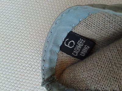 Guanti Donna in pelle col. carta da zucchero tg 6 Gloves Originali Lusso 10