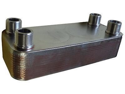 SCAMBIATORE di calore a piastre NORDIC  ACCIAIO INOX 25-65kW con ISOLAMENTO 6