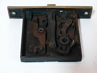Broken Leaf Exterior Entry Door Mortise Lock Cast Iron Brass Victorian Lockwood 5