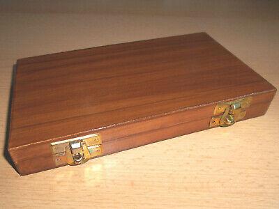 Nostalgie Apothekerwaage Goldwaage Waage in Holzschatulle mit 5 Gewichte 1-10g 4