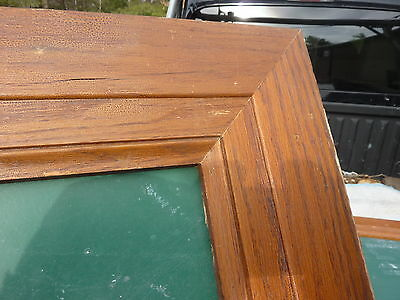 """early 20th century schoolhouse SLATE chalkboard FRAMED OAK molding 49.5"""" x 38"""" 5"""