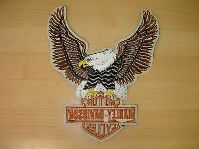 "Harley-Davidson Brown Up-Wing Eagle Patch ""10 1/2 x 7 3/4 "" - Made in USA 2"