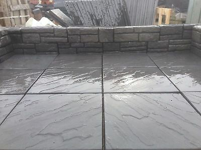 Bradstone Riven Patio Paving Slabs Flags Derbyshire Noir Grey