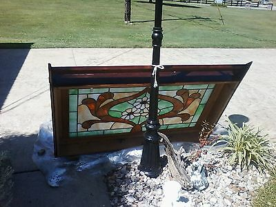 Georgous Stained Glass Window--Framed in Antique Barn Wood 10