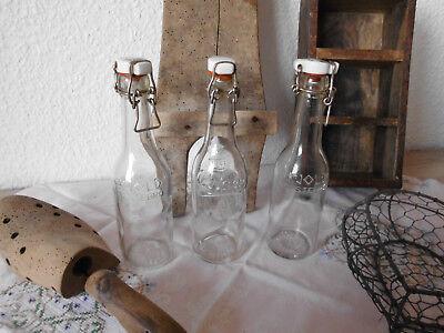 Dänemark Shabby Deko Glasflaschen Flasche Antik Denmark Alt 3 Stück 🌷🌷🌷 5
