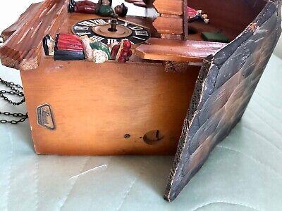 Vintage Hand Made Wooden Regula Musical Dancers Wheel Cuckoo Clock Germany 7