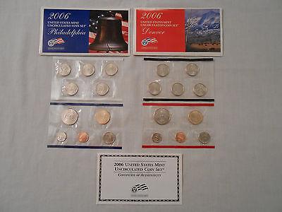 Coins:Collection: 2006 US Mint Uncirculated Coins: 2 Sets :Philadelphia/Denver 2