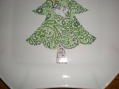 Mudpie Mud Pie Platter Treats Serving Christmas Holiday Magic Tree Bird 4