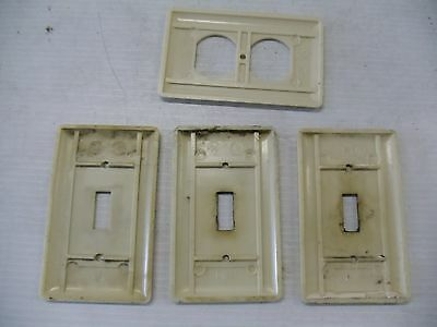 Old Vintage Bakelite Electrical Switch Outlet Plate Covers Ivory  Ge 4
