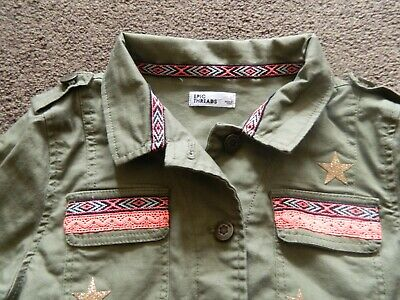 Girls Khaki Funky Jacket bought from USA, Epic Threads - L approx. age 10-11 yrs 2